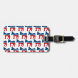 DEMOCRAT DONKEY PATTERN.png Tags For Luggage