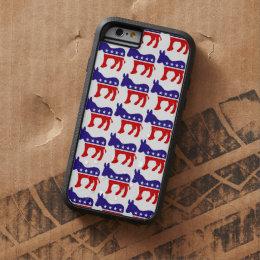 Democrat Donkey Pattern Tough Xtreme iPhone 6 Case