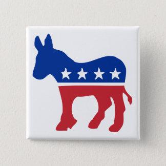 Democrat Donkey Pinback Button