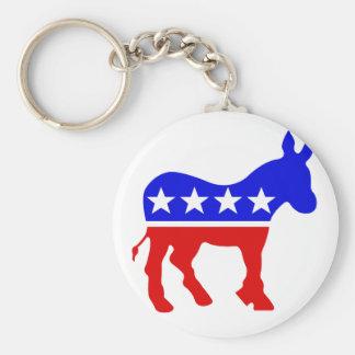 Democrat Donkey Political Symbol Key Chain