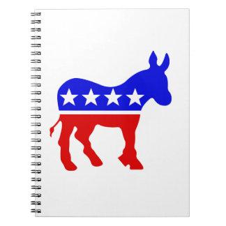 Democrat Donkey Political Symbol Notebooks