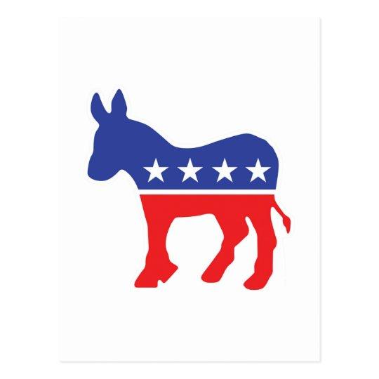 Democrat Donkey Postcard