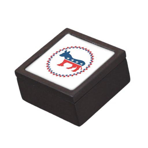 Democrat donkey premium keepsake boxes