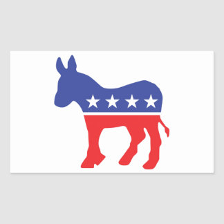 Democrat Donkey Rectangular Sticker