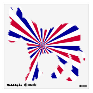 Democrat Donkey Red,White, and Blue Wall Decal