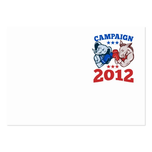 Democrat Donkey Republican Elephant Campaign 2012 Business Card Template