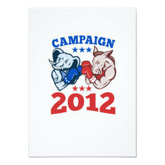Democrat Donkey Republican Elephant Campaign 2012 Personalized Invites