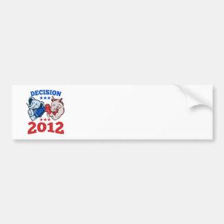 Democrat Donkey Republican Elephant Decision 2012 Bumper Stickers
