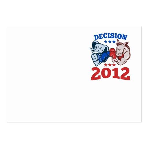 Democrat Donkey Republican Elephant Decision 2012 Business Cards