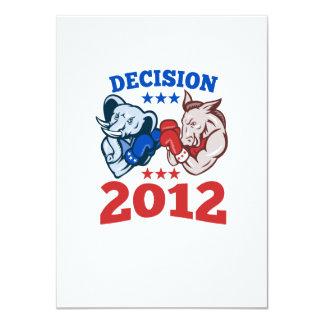 Democrat Donkey Republican Elephant Decision 2012 Personalized Announcement