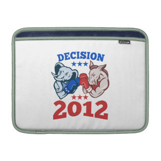 Democrat Donkey Republican Elephant Decision 2012 Sleeve For MacBook Air