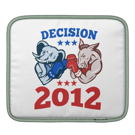 Democrat Donkey Republican Elephant Decision 2012 Sleeves For iPads