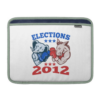 Democrat Donkey Republican Elephant Mascot 2012 MacBook Air Sleeves