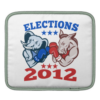 Democrat Donkey Republican Elephant Mascot 2012 iPad Sleeves