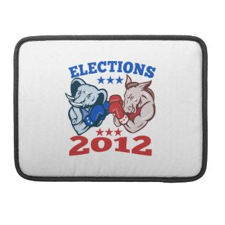 Democrat Donkey Republican Elephant Mascot 2012 MacBook Pro Sleeve