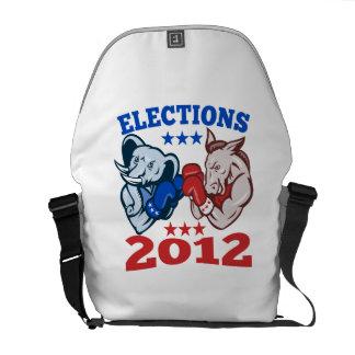 Democrat Donkey Republican Elephant Mascot 2012 Messenger Bags
