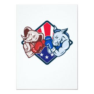 Democrat Donkey Republican Elephant Mascot Boxing Personalized Announcement
