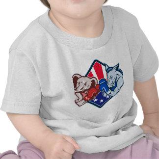 Democrat Donkey Republican Elephant Mascot Boxing Shirts