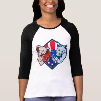 Democrat Donkey Republican Elephant Mascot Boxing T-shirts