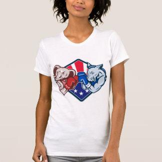 Democrat Donkey Republican Elephant Mascot Boxing Tshirts