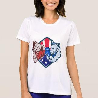 Democrat Donkey Republican Elephant Mascot Boxing T Shirt