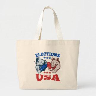 Democrat Donkey Republican Elephant Mascot USA Canvas Bag