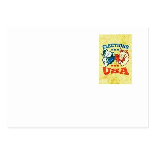 Democrat Donkey Republican Elephant Mascot USA Business Cards