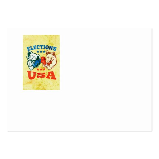 Democrat Donkey Republican Elephant Mascot USA Business Card Templates