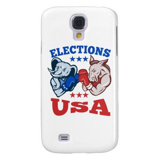 Democrat Donkey Republican Elephant Mascot USA Samsung Galaxy S4 Case