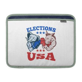 Democrat Donkey Republican Elephant Mascot USA MacBook Sleeves