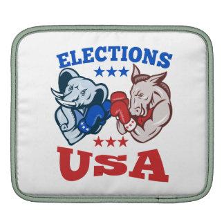 Democrat Donkey Republican Elephant Mascot USA iPad Sleeves
