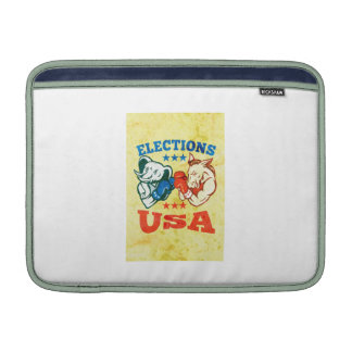 Democrat Donkey Republican Elephant Mascot USA MacBook Air Sleeves