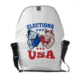 Democrat Donkey Republican Elephant Mascot USA Commuter Bag