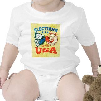 Democrat Donkey Republican Elephant Mascot USA Shirts