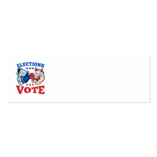 Democrat Donkey Republican Elephant Mascots Double-Sided Mini Business Cards (Pack Of 20)