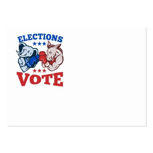 Democrat Donkey Republican Elephant Mascots Business Cards