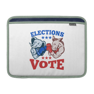 Democrat Donkey Republican Elephant Mascots MacBook Sleeves