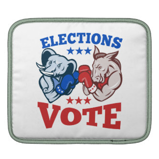 Democrat Donkey Republican Elephant Mascots Sleeve For iPads