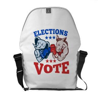 Democrat Donkey Republican Elephant Mascots Messenger Bag
