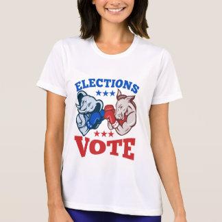 Democrat Donkey Republican Elephant Mascots Shirts