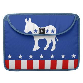 Democrat Donkey Rickshaw Flap Sleeve MacBook Pro Sleeve