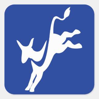 Democrat Donkey Square Sticker