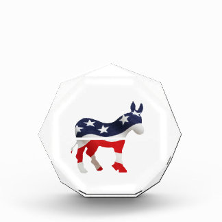 Democrat Donkey with USA Flag Superimposed Award