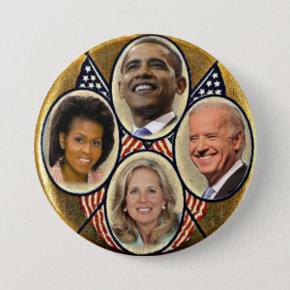 Democrat Family Quadragate 3-Inch Button