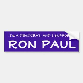 Democrat for Ron Paul Bumper Sticker