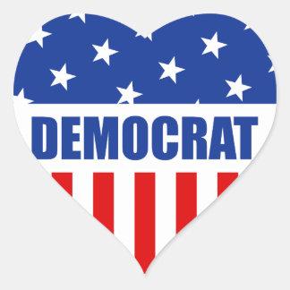 Democrat Heart Sticker