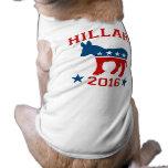 DEMOCRAT HILLARY 2016.png Pet Tee Shirt