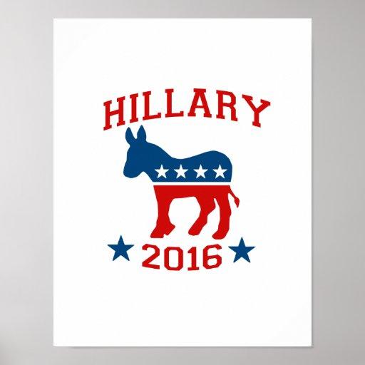 DEMOCRAT HILLARY 2016.png Posters