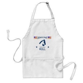 democrat how i roll adult apron