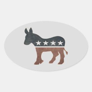 Democrat ID Sticker